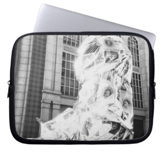 Boston, MA USA, Runner in Foil Boston Marathon Laptop Sleeve