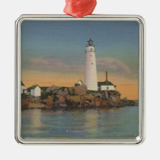 Boston, MABoston Lighthouse at Boston Harbor 2 Christmas Ornament