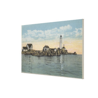 Boston, MABoston Lighthouse at Boston Harbor Canvas Print