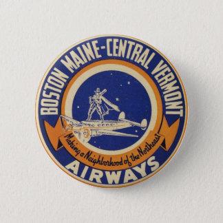 Boston Maine-Central Vermont Airways Logo 6 Cm Round Badge