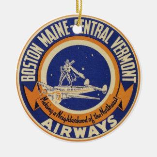 Boston Maine-Central Vermont Airways Logo Christmas Ornament