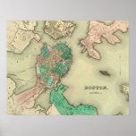 Boston Map - 1838 Poster