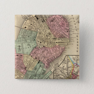 Boston Map by Mitchell 15 Cm Square Badge