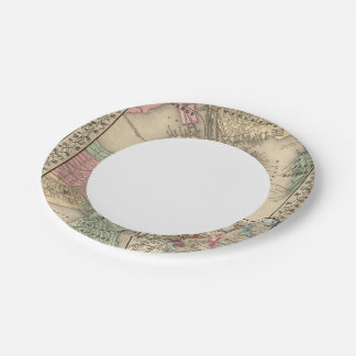 Boston Map by Mitchell Paper Plate