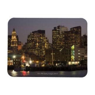 Boston, Masachusetts Skyline Rectangular Photo Magnet