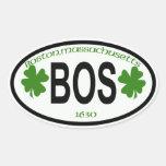 boston,mass city tag oval sticker