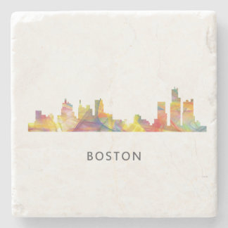 BOSTON MASS. SKYLINE WB1- STONE COASTER