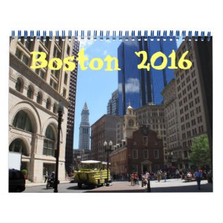 Boston Massachusetts 2016 photography calendar