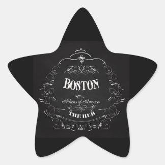 Boston Massachusetts - Athens of America Star Sticker