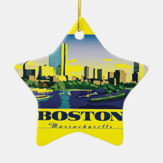 Boston, Massachusetts Christmas Ornament