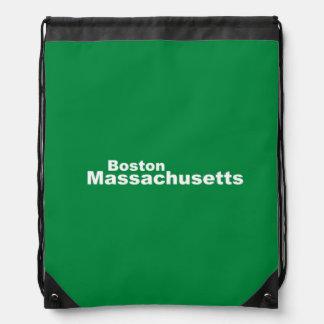 Boston, Massachusetts Drawstring Backpack
