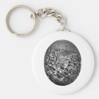 Boston Massachusetts from the Air 1860 Keychain