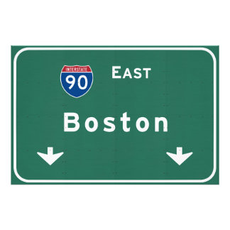 Boston Massachusetts ma Interstate Highway Road : Photographic Print