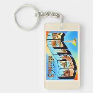Boston Massachusetts MA Vintage Travel Souvenir Key Ring