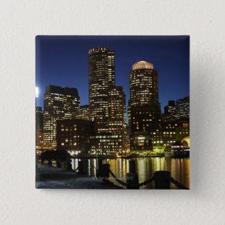 Boston, Massachusetts skyline 15 Cm Square Badge