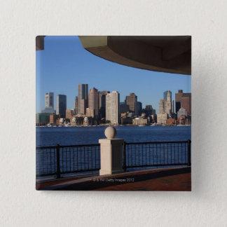 Boston, Massachusetts skyline 2 15 Cm Square Badge