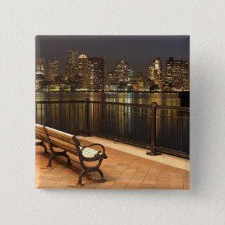 Boston, Massachusetts skyline 3 15 Cm Square Badge