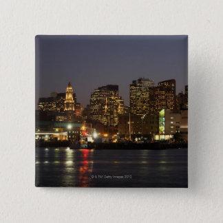 Boston, Massachusetts skyline 4 15 Cm Square Badge