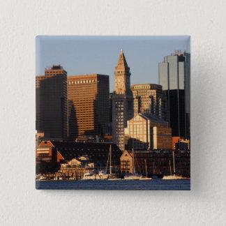 Boston, Massachusetts skyline 5 15 Cm Square Badge