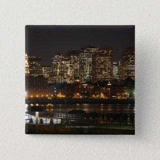 Boston, Massachusetts skyline 6 15 Cm Square Badge