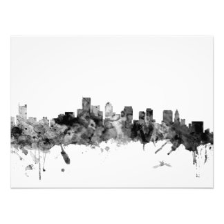 Boston Massachusetts Skyline Art Photo