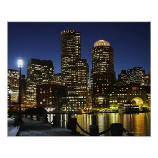 Boston, Massachusetts skyline Poster