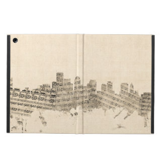 Boston Massachusetts Skyline Sheet Music Cityscape iPad Air Case