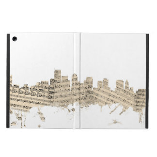 Boston Massachusetts Skyline Sheet Music Cityscape iPad Air Cases