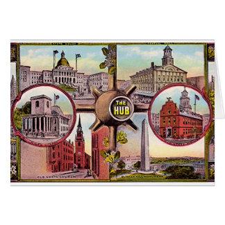 Boston Massachusetts The Hub Greeting Card