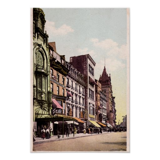 Boston Massachusetts Tremont Street Poster
