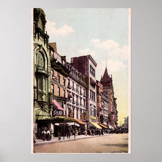 Boston Massachusetts Tremont Street Poster