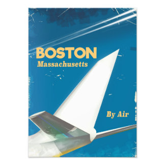 Boston Massachusetts vintage flight poster Photograph