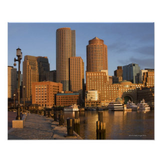 Boston, Massachusetts Waterfront Poster