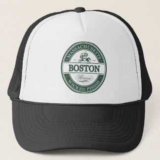 boston massachusetts - wicked pissah trucker hat