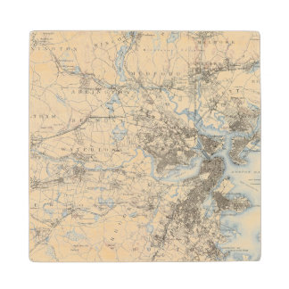 Boston, Massachusetts Wood Coaster