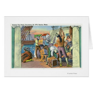 Boston, MassachusettsBoston Tea Party Scene Card