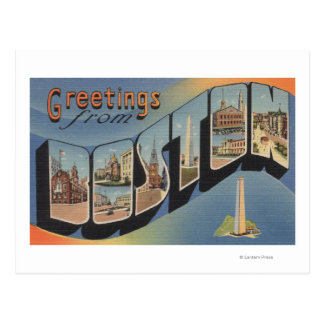 Boston, MassachusettsLarge Letter Scenes 2 Postcard