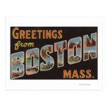 Boston, MassachusettsLarge Letter Scenes 3 Postcard