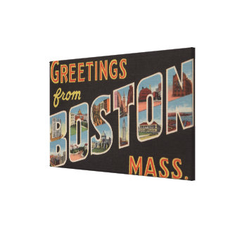 Boston, MassachusettsLarge Letter Scenes Canvas Print