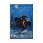 Boston, MassachusettsPaul Revere's Ride Postcard