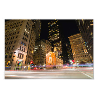 Boston Old State House at Night Photo Print