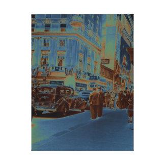 Boston Parker House Hotel 1930's Photograph Car Canvas Print