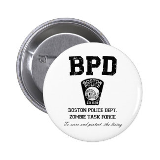 Boston Police Department Zombie Task Force 6 Cm Round Badge