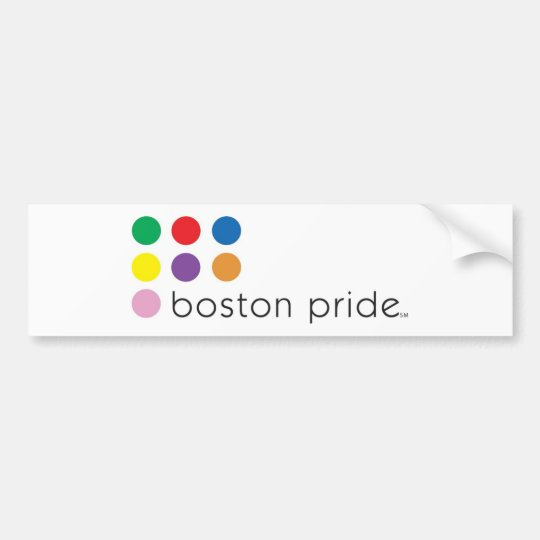 Boston Pride Bumper Bumper Sticker