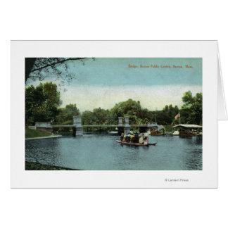 Boston Public Garden View of the Bridge Card