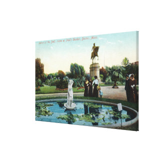 Boston Public Garden View of Venus at the Bath Canvas Print