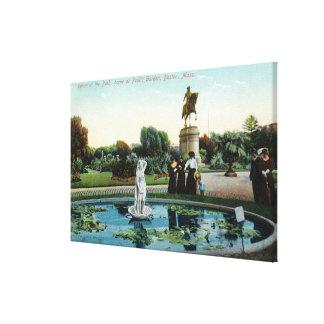 Boston Public Garden View of Venus at the Bath Canvas Prints