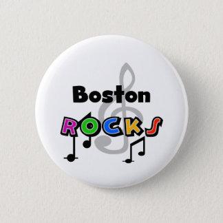 Boston Rocks 6 Cm Round Badge