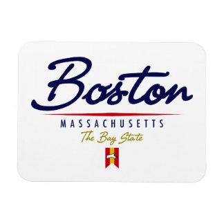 Boston Script Rectangular Photo Magnet