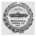 Boston Seal Poster